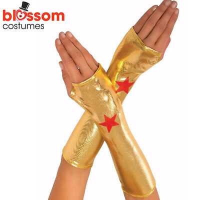 AC96 Dawn Of Justice Wonder Woman Deluxe Costume Gauntlets Superhero Accessory