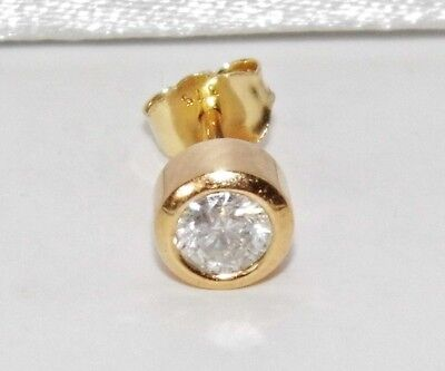 Men's 9ct Yellow Gold 0.25ct Diamond Single Stud Earring