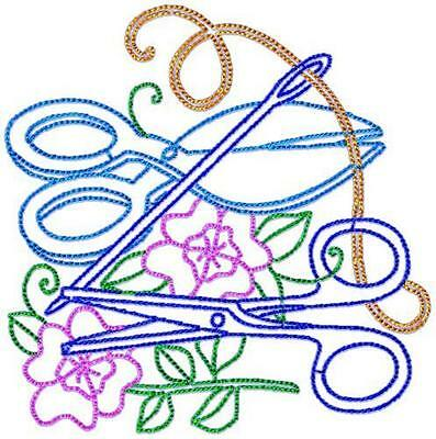 Sewing Bits 10 Machine Embroidery Designs Cd 3 Sizes Included