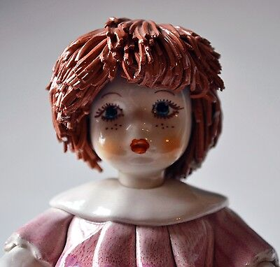 BEAUTIFUL ANTIQUE PORCELAIN FIGURINE DOLL ~ SIGNED by ARTIST