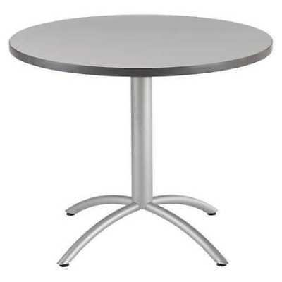 """CAFEWORKS 65647 Round Cafe Table, 42""""Dia. 30""""H, Gray"""