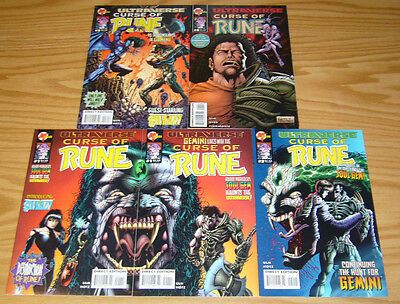 Curse of Rune #1-4 VF/NM complete series + variant - kyle hotz - ultraverse set