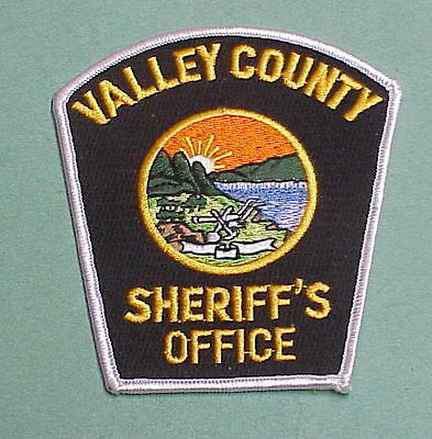 Valley County  Glasgow  Montana  Mt  ( Silver Border )  Sheriff / Police Patch