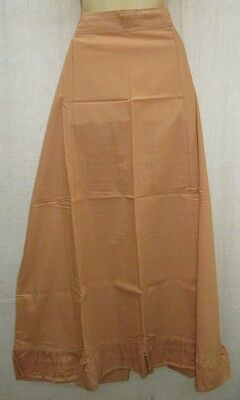 Biscuit Pure Cotton Frill Petticoat Skirts Sari XL Plussize Brand New NR #EM303