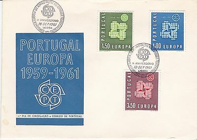 First day cover, Portugal, Europa CEPT, Scott #875-7, 1961