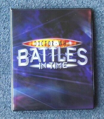 Dr Doctor Who Official Small BATTLES IN TIME Trading Card Album - holds up to 80