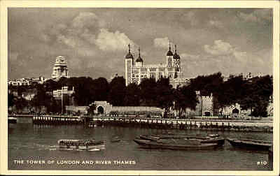 London ~1920/30 The Tower Bridge of London and River Themse Britain Postcard