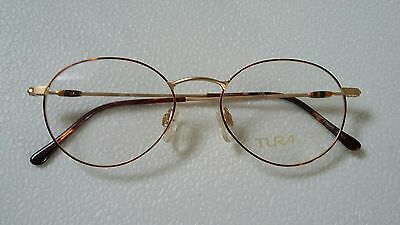 Vintage Tura   Glasses  Round  Frame New   Old  Stock  49/17 Japan.