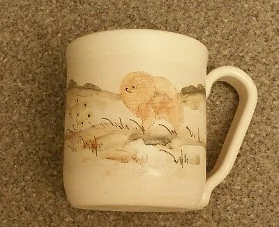 ~Pomeranian Dog Large 20 oz. Coffee Mug Cup or Planter Pottery Ceramic~ New~