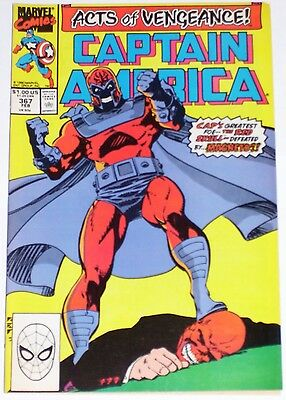 Captain America #367 from Feb 1990 F+ to VF- Magneto. Acts of Vengeance