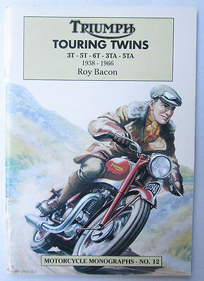 Triumph Touring Pre & Unit Twins Motorcycle Book 1938-1966 3T 5T 3Ta 5Ta 6T