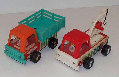 1960 #615 Larger Tow Truck and #649 Stake (body) Truck Fisher Price