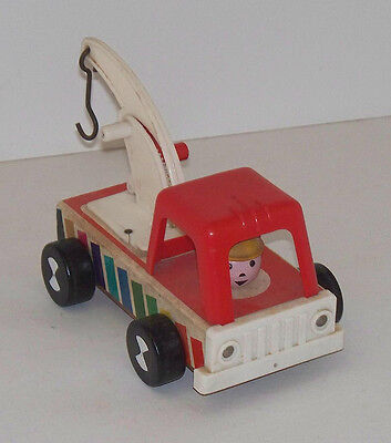 1960 #615 Larger Tow Truck with Original Hook Fisher Price