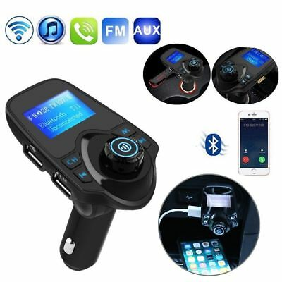 Bluetooth FM Übermittler Freihändiger Drahtloser Audio Adapter MP3-Player AUX TF