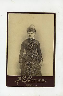 CABINET CARD,Vintage Photo,Young  Woman, Nice Dress, Whitehall, NY