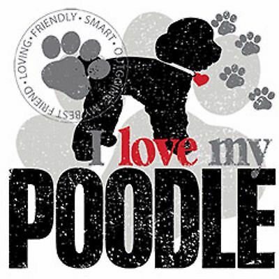 I Love My Poodle Tote