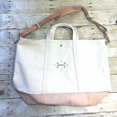 Nwt Steele Canvas Basket Corp For J Crew Natural Bag Gym Tote 56259 Brand New