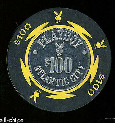 $100 Playboy Chip Back Up Old Obsolete Atlantic City Casino Chip from the Dig