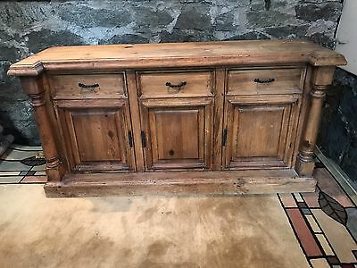 Vintage Sideboard Buffet Mission Oak Arts Crafts Style