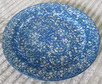 """Stangl Pottery Blue Town and Country Spatter Ware 12"""" Chop Plate Round Platter"""