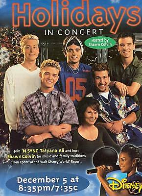 'N SYNC and SHAWN COLVIN Holidays PROMO POSTER AD