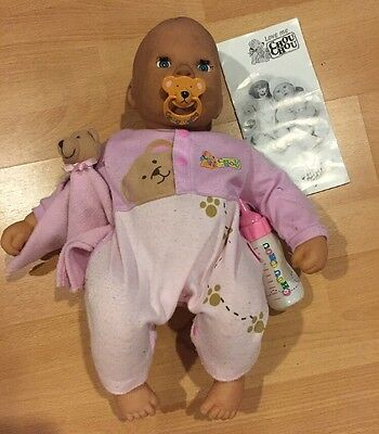 "ZAPF BABY CHOU CHOU 19"" INTERACTIVE DOLL w/ Soft Face, Talks, Moves, As Is"