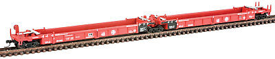 Walthers N Scale Thrall 5-Unit Articulated 48' Well Car Santa Fe/SFLC #254165