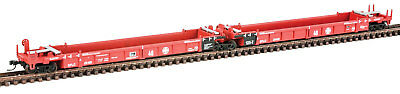 Walthers N Scale Thrall 5-Unit Articulated 48' Well Car Santa Fe/SFLC #254181