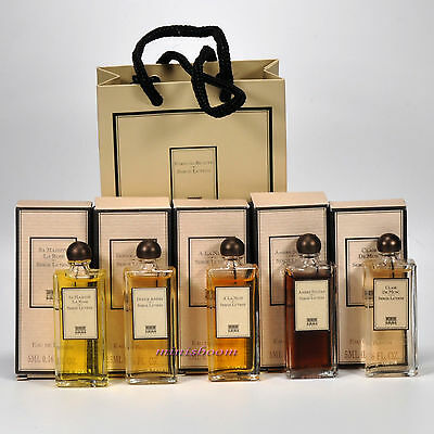 SERGE LUTENS Lot of 5 Mini Perfume Miniature Bottle for Women New in Box and Bag