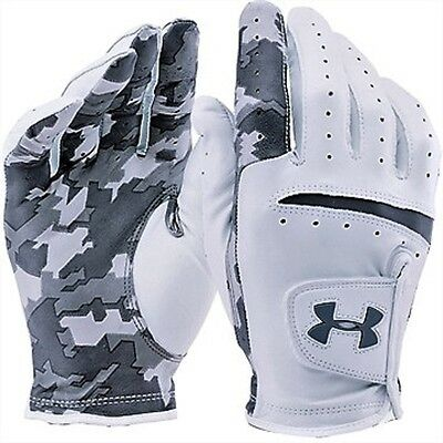 Under Armour Men's Ua Strikeskin Camo Left Hand Leather Golf Glove Nib #1275444