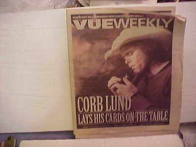 Corb Lund Picture On Front Cover Of Vue Weekly Magazine