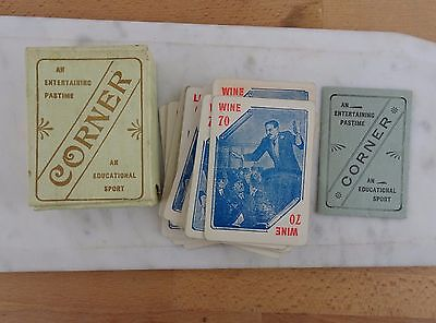 Vintage Antique Corner Card Game An Entertaining Pastime & Educational Sport