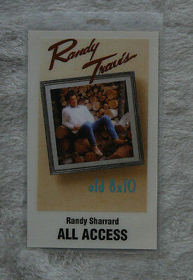 RANDY TRAVIS OLD 8 x 10 TOUR !988 - 89 ALL ACCESS TOUR PASS