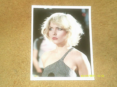 "Blondie DEBBIE HARRY fan club photo from 1979, color (8 1/2"" x 11"") NM shape"