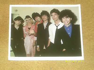 """BLONDIE fan club photo from 1979 color, 8 1/2"""" x 11"""" (NM shape)"""
