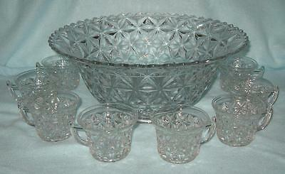 Imperial Mt. Vernon Washington Punch Bowl with 8 Cups