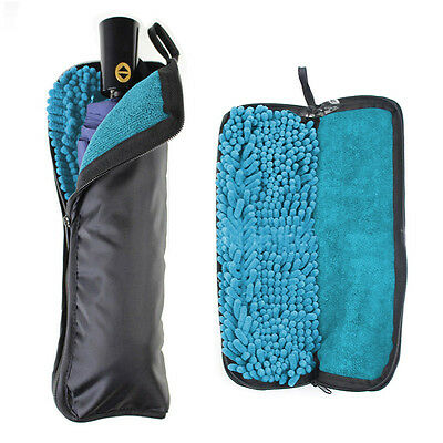 30cm Protable Water Absorption Umbrella Cover Water Cleaning Cloth Storage Bags