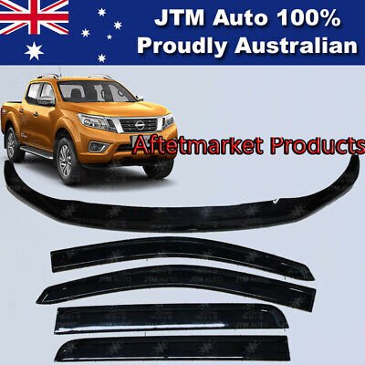 For Navara NP300 D23 Bonnet Protector Guard and Weather Shields Visors 2014-2018