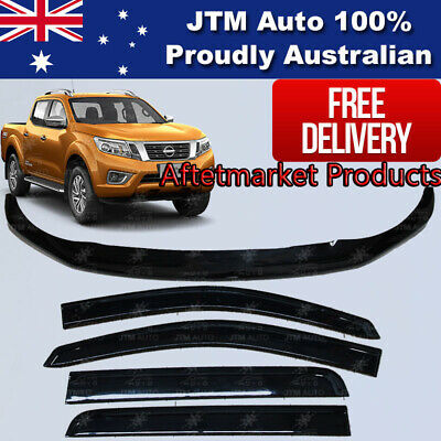 Navara NP300 D23 Bonnet Protector Guard and Weather Shields Visors 2014-2017