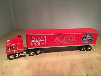 Dover Downs Budweiser Kenworth K100E Semi Diecast Coin Bank - Liberty 1:64 Scale