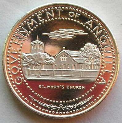 Anguilla 1970 St.Mary's Church 50 Cents Silver Coin,Proof