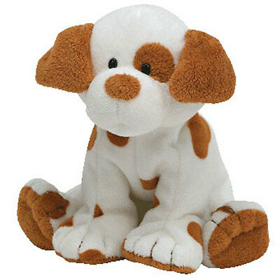 TY Pluffies - PEPPY the Puppy Dog (9 inch) - MWMTs Stuffed Animal Toy