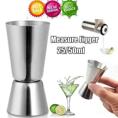 25/50ml Jigger Single Double Shot Short Spirit Drink Measure Cup Cocktail Party