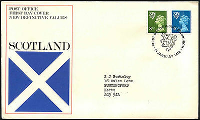 GB FDC 1976 Scotland Regionals Definitives First Day Cover #C41775