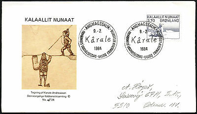Greenland 1984 Karale Andreassen FDC First Day Cover #C41419