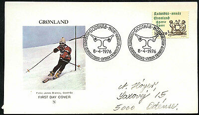 Greenland 1976 Sports Publicity FDC First Day Cover #C41455