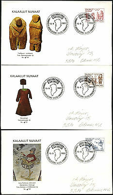 Greenland 1983 Millenary Of Greenland FDC First Day Cover Set #C41423