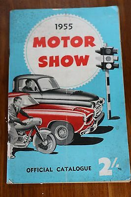 1955 MOTOR SHOW /  OFFICIAL CATALOGUE SYDNEY NSW 100 pages BW & Colour