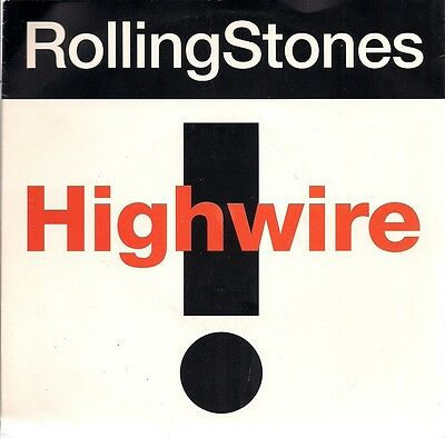 """The Rolling Stones Highwire UK 45 7"""" single +Picture Sleeve"""