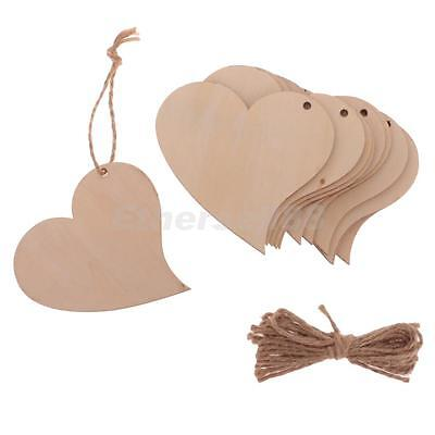 12Pieces Wooden Love Heart Shape Wedding Plaque Art Craft Embellishment